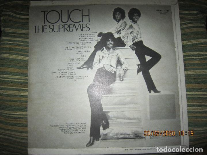 Discos de vinilo: THE SUPREMES - TOUCH LP - ORIGINAL INGLES - TAMLA MOTOWN RECORDS 1971 - STEREO - - Foto 2 - 194730691