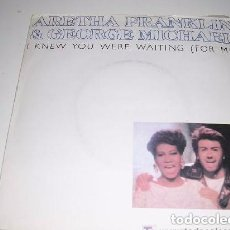 Discos de vinilo: ARETHA FRANKLIN (CON GEORGE MICHAEL) ··· I KNEW YOU WERE WAITING (FOR ME) · (SINGLE 45 RPM). Lote 194730900