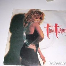 Discos de vinilo: TINA TURMER TYPICAL MALE SINGLE DE 1986. Lote 194730980
