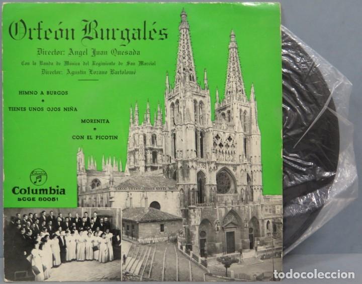 EP. ORFEON BURGALES. HIMNO DE BURGOS (Música - Discos de Vinilo - EPs - Clásica, Ópera, Zarzuela y Marchas)