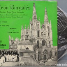 Discos de vinilo: EP. ORFEON BURGALES. HIMNO DE BURGOS. Lote 194731066