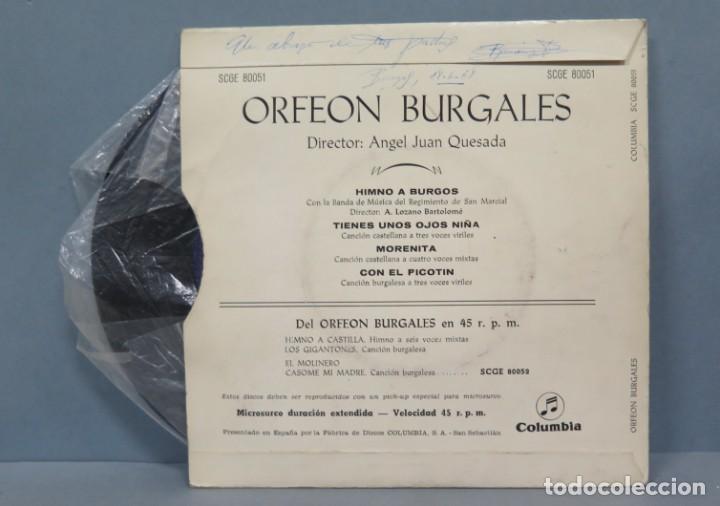 Discos de vinilo: EP. ORFEON BURGALES. HIMNO DE BURGOS - Foto 2 - 194731066