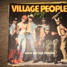 """Discos de vinilo: VILLAGE PEOPLE: SAVE ME 7"""". Lote 194731951"""