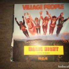 "Discos de vinilo: VILLAGE PEOPLE: MAGIC NIGHT 7"". Lote 194732277"