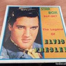 Discos de vinilo: ELVIS PRESLEY THE LEGEND STAR BOX 3 LP SET (B-10). Lote 194732466