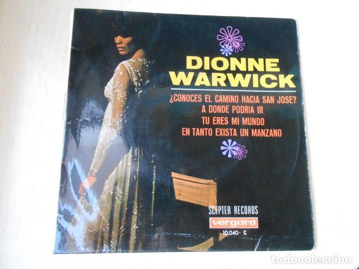 DIONNE WARWICK, EP, DO YOU KNOW THE WAY TO SAN JOSÉ (¿CONOCES EL CAMINO HACIA SAN JOSÉ + 3, AÑO 1968 (Música - Discos de Vinilo - EPs - Pop - Rock Extranjero de los 50 y 60)
