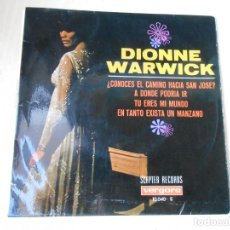 Discos de vinilo: DIONNE WARWICK, EP, DO YOU KNOW THE WAY TO SAN JOSÉ (¿CONOCES EL CAMINO HACIA SAN JOSÉ + 3, AÑO 1968. Lote 194732628
