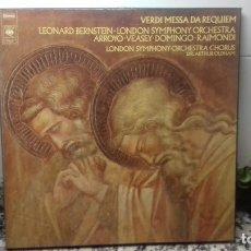 Discos de vinilo: VERDI MESSA DA REQUIEN. Lote 194732638
