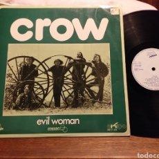 Discos de vinilo: CROW EVIL WOMAN 1971 EKIPO ESPAÑA. Lote 194735101