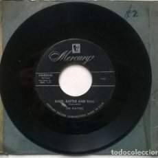Discos de vinilo: THE PLATTERS. BARK, BATTLE AND BALL/ ONLY YOU AND YOU ALONE. MERCURY, USA 1955 SINGLE. Lote 194738158