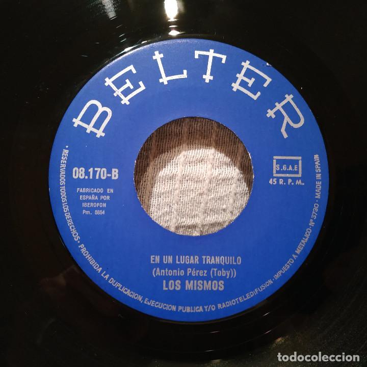 Discos de vinilo: LOS MISMOS - ERES OTOÑO / EN UN LUGAR TRANQUILO - RARO SINGLE BELTER DEL AÑO 1972 EXCELENTE ESTADO - Foto 4 - 194739285