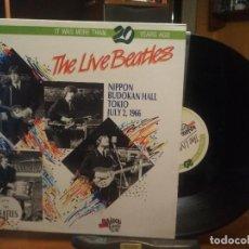 Discos de vinilo: THE BEATLES THE LIVE BEATLES - NIPON BUDOKAN LP ITALIA 1987 PEPETO TOP . Lote 194739755