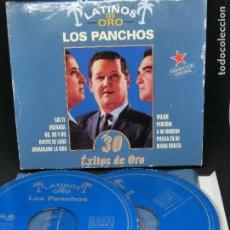 Discos de vinilo: CD DOBLE LATINOS DE ORO - LOS PANCHOS - 30 ÉXITOS DE ORO - NO INCLUYE CAJA. Lote 194743202