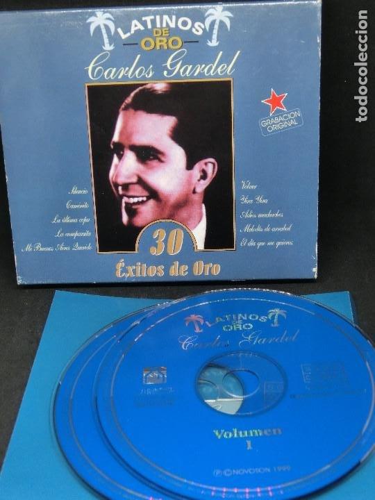 CD DOBLE LATINOS DE ORO - CARLOS GARDEL - 30 ÉXITOS DE ORO - NO INCLUYE CAJA (Música - Discos - Singles Vinilo - Música Infantil)