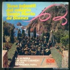 Discos de vinilo: NUMULITE * TUNA INFANTIL DEL COLEGIO SANTA MARÍA DE BLANES LA AURORA AY MARI CARMEN LA UVA DESPIERTA. Lote 194746057