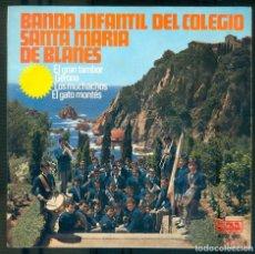 Discos de vinilo: NUMULITE * BANDA INFANTIL DEL COLEGIO SANTA MARÍA DE BLANES EL GRAN TAMBOR GERONA LOS MUCHACHOS GATO. Lote 194746452