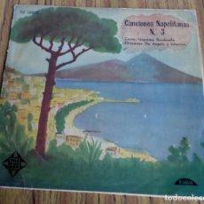 Discos de vinilo: CANCIONES NAPOLITANAS Nº 3 - CANTA: GIACOMO RANDINELLA ORQUESRA: DE ANGELIS Y GIANNINI 1958. Lote 194746776