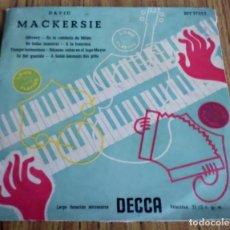 Discos de vinilo: DAVID MACKERSIE -- SIBONEY, EN LA CAFETERÍA DE MILÁN Y OTRAS . Lote 194746892