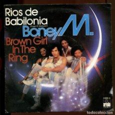 Discos de vinilo: BONEY M. RIOS DE BABILONIA. SP ARIOLA . Lote 194750786