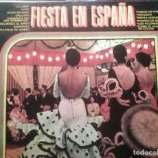 Discos de vinilo: FIESTA EN ESPAÑA. LIRIO, VITO, JALEO GITANO, GALLITO, BULERIAS DE JEREZ. DISCOPHON.... Lote 194750978
