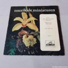 Discos de vinilo: MUZIKALE MINIATUREN - BACH JESU JOY OF MAN'S DESIRING - BEETHOVEN - FUR ELISE - PIANO MYRA HESS. Lote 194751255