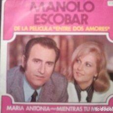 Discos de vinilo: MANOLO ESCOBAR. MARIA ANTONIA, Y MIENTRAS TU ME VIVAS.DISCOS BELTER. . Lote 194752032
