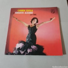 Discos de vinilo: CARMEN SEVILLA Y AUGUSTO ALGUERO EN T.V.E.. Lote 194752161