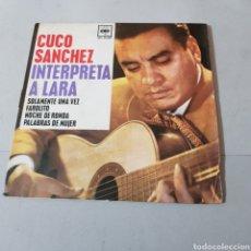 Discos de vinilo: CUCO SANCHEZ INTERPRETA A LARA - SOLAMENTE UNA VEZ FAROLITO - NOCHE DE RONDA - PALABRAS DE MUJER. Lote 194754563