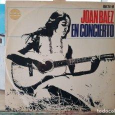 Discos de vinilo: *** JOAN BAEZ - EN CONCIERTO - LP 1966 (EDICIÓN EN MONO 1ª TIRADA) - LEER DESCRIPCIÓN. Lote 194756443