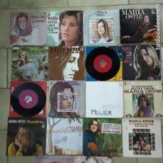 Discos de vinilo: LOTE DE 15 SINGLES Y 3 EPS DE MARIA OSTIZ. Lote 194757573
