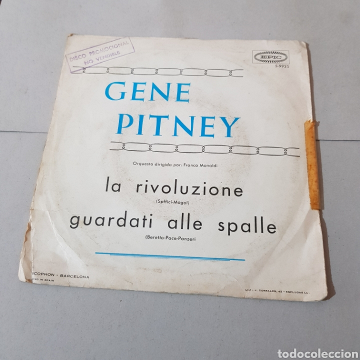 Discos de vinilo: GENE PITNEY - SAN REMO 1967 - Foto 2 - 194758156