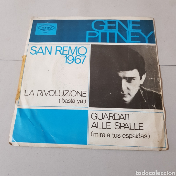 GENE PITNEY - SAN REMO 1967 (Música - Discos - Singles Vinilo - Otros Festivales de la Canción)