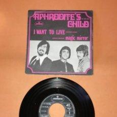 Discos de vinilo: APHRODITE'S CHILD. I WANT TO LIVE. MAGIC MIRROR. MERCURY RECORDS 1969. Lote 194758368