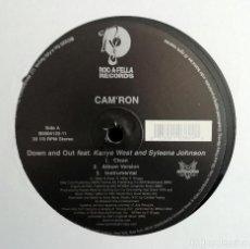 Discos de vinilo: CAM'RON - DOWN AND OUT MAXI-SINGLE 33 ⅓ RPM 2005 HIP HOP . Lote 194758396