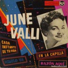 Discos de vinilo: JUNE VALLI. EN LA CAPILLA. CADA INSTANTE DE TU VIDA. EP ESPAÑA ORIGINAL. Lote 194758760