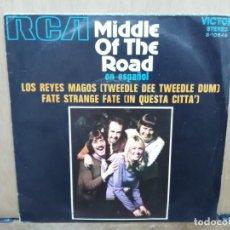 Discos de vinilo: MIDDLE OF THE ROAD - LOS REYES MAGOS / FATE STRANGE FATE - SINGLE DEL SELLO RCA 1971. Lote 194758870