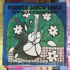 Discos de vinilo: GARCÍA LORCA - CANTARES Y CANCIONES - LP RCA 1977 - DORY FERRER / MANUEL CANO. Lote 194759377
