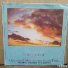 Discos de vinilo: ORCHESTRAL MANOEUVRES IN THE DARK - ENOLA GAY / THE MORE I SEE YOU - SINGLE DEL SELLO DINDISC 1981. Lote 194759452