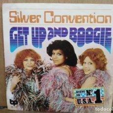 Discos de vinilo: SILVER CONVENTION - GET UP AND BOOGIE / SON OF A GUN - SINGLE DEL SELLO BP 1976. Lote 194760062