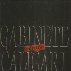 Discos de vinilo: GABINETE CALIGARI PRIVADO. Lote 194760155