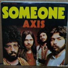 Discos de vinilo: AXIS - SOMEONE / LONG TIME AGO - SINGLE DEL SELLO RIVIERA 1972. Lote 194760216