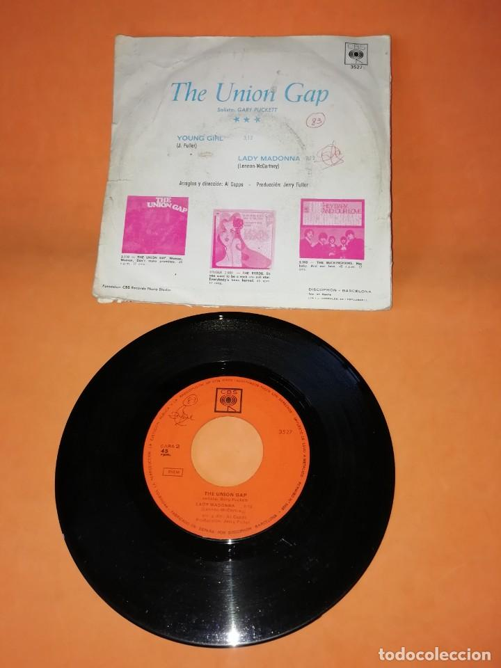 Discos de vinilo: THE UNION GAP. YOUNG GIRL. LADY MADONNA. CBS 1968 - Foto 2 - 194760397