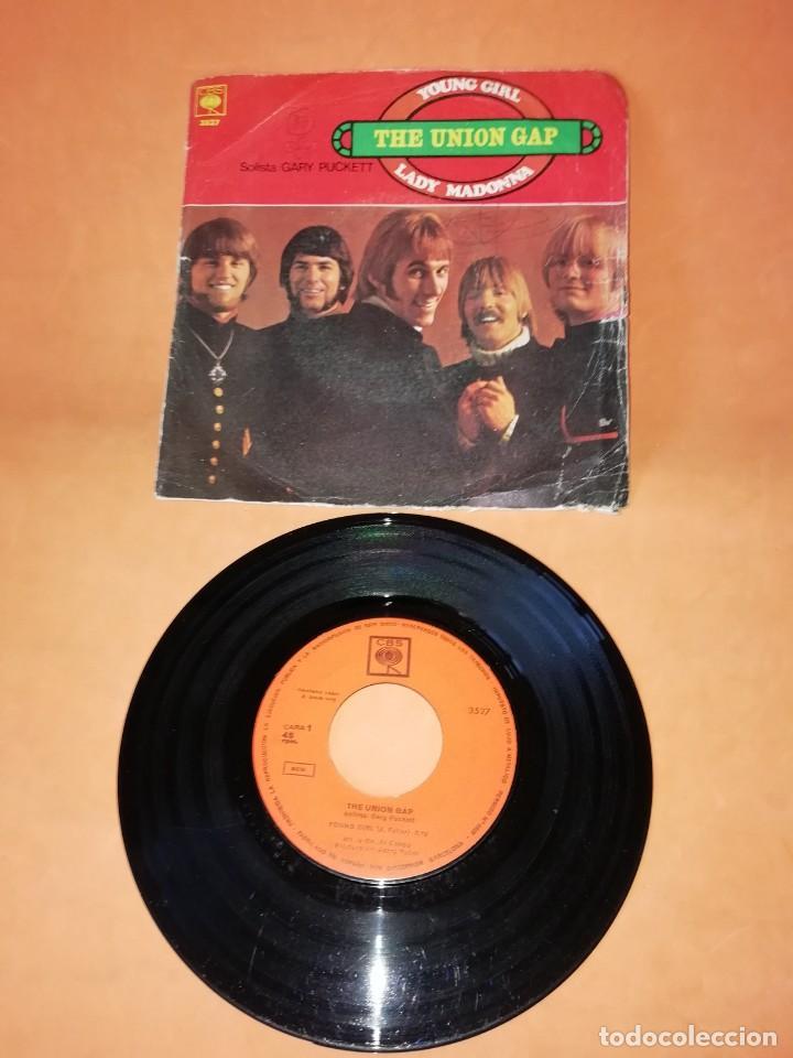 THE UNION GAP. YOUNG GIRL. LADY MADONNA. CBS 1968 (Música - Discos - Singles Vinilo - Pop - Rock Extranjero de los 50 y 60)