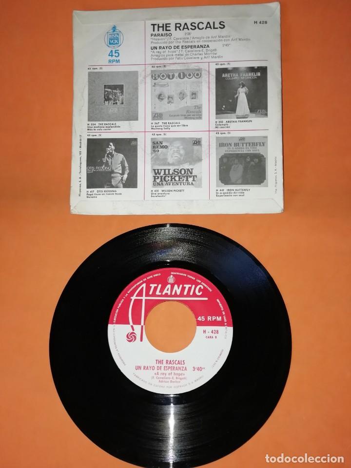Discos de vinilo: THE RASCALS. PARAISO . UN RAYO DE ESPERANZA. ATLANTIC RECORDS. 1969 - Foto 2 - 194761641