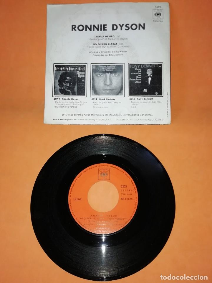 Discos de vinilo: RONNIE DYSON. BANDA DE ORO. NO QUIERO LLORAR. CBS 1970 - Foto 2 - 194763508