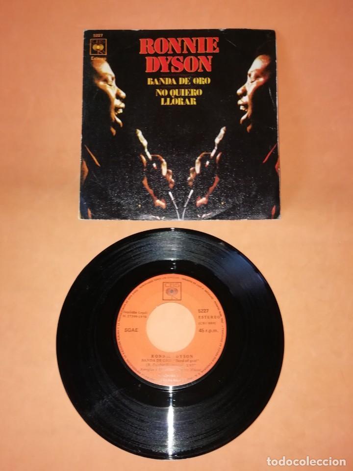 RONNIE DYSON. BANDA DE ORO. NO QUIERO LLORAR. CBS 1970 (Música - Discos - Singles Vinilo - Funk, Soul y Black Music)