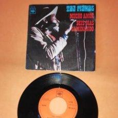 Discos de vinilo: TAJ MAHAL. MUCHO AMOR- SEIS DIAS CAMINANDO. CBS 1970. Lote 194764043