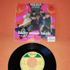 Discos de vinilo: EQUALS. EXPLOSION. BABY, COME BACK. SINTONIA RECORDS. 1967. Lote 194764923