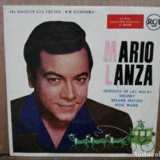 Discos de vinilo: MARIO LANZA - SERENATA DE LAS MULAS, SIBONEY, BÉSAME MUCHO... - EP. DEL SELLO RCA 1959. Lote 194764961