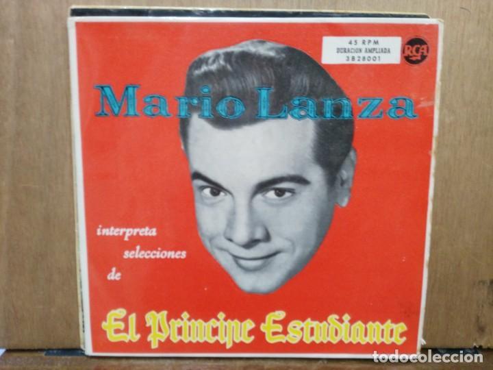 MARIO LANZA - INTERPRETA SELECCIONES DE EL PRÍNCIPE ESTUDIANTE - DOBLE EP. DEL SELLO RCA (Música - Discos de Vinilo - EPs - Grupos y Solistas de latinoamérica)